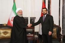 دیدار روحانی با رئیس مجلس عراق