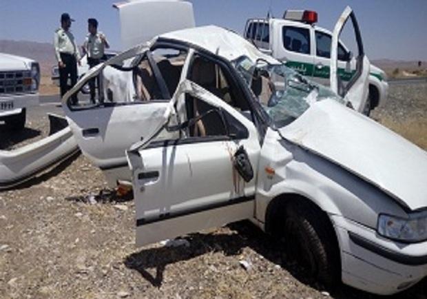 چهار نفر در سانحه رانندگی در گناباد مجروح شدند