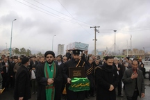 پیکر مطهر 2 شهید گمنام در تفت تشییع شد
