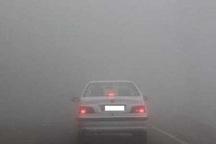 مه غلیظ، تردد خودروها را در محورهای خراسان شمالی مختل کرد
