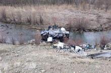 سقوط کامیون به رودخانه در سنندج یک کشته بر جا گذاشت