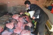 128 تن فرآورده دامی غیر بهداشتی در مرکزی کشف شد