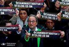 تظاهرات گسترده جدایی طلبان در بارسلون+ تصاویر