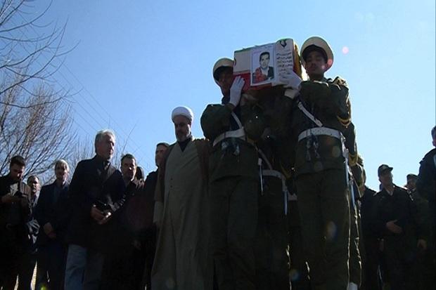 پیکر یک شهید جانباز در مشگین شهر تشییع شد