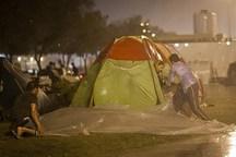 خداحافظی مازنی ها با مهمانان نوروزی با طعم باران و سرما