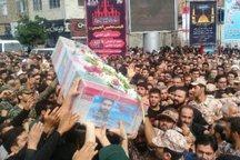 پیکر پاسدار شهید مدافع حرم در بهشهر تشییع شد