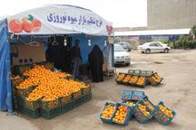 غرفه های توزیع میوه عید تنظیم بازار در قزوین افزایش یافت