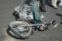 تصادف موتورسیکلت و کامیونت در جیرفت یک کشته برجای گذاشت