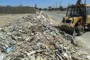 شهر زاهدان در محاصره نخاله های ساختمانی و پسماند
