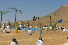 قروه برای پنجمین سال بازسازی واقعه غدیر را لمس کرد