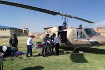 واژگونی پژو در شهرستان عجب شیر بالگرد اورژانس را به صحنه کشاند