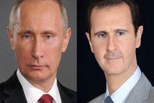 دیدار بشار اسد و پوتین در لاذقیه
