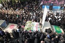 پیکر 14 شهید سال های دفاع مقدس در اصفهان تشییع شد