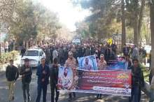 پیکرسرباز وظیفه شهید نیکنام مهرآوران در پارس آباد تشییع شد