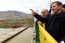 بازدید جهانگیری از مناطق در خطر سیل در کرمانشاه