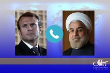 رایزنی روسای جمهور ایران و فرانسه درباره مسائل دوجانبه، منطقهای و برجام/  روحانی: اگر ایران نتواند از امتیاز این توافق استفاده کند، عملا ماندن در آن، امکان پذیر نخواهد بود/ مکرون: همه باید تلاش کنیم تا برجام حفظ شود