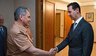 وزیر دفاع روسیه به دیدار بشار اسد رفت