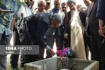 افتتاح شبکه آبیاری اراضی پایاب سد تبارک شهرستان قوچان