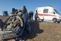 واژگونی نیسان در خوزستان هشت مصدوم داشت