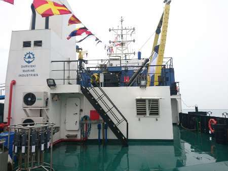 نخستین کشتی تحقیقاتی اقیانوس شناسی کشور راه اندازی شد