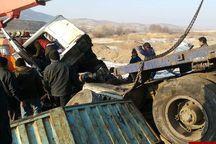 برخورد تریلر با کامیون در جاده زنجان یک قربانی گرفت