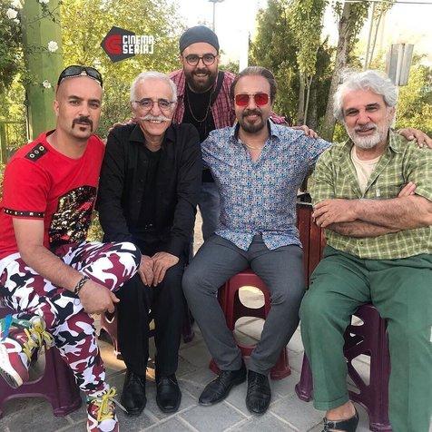 رضا عطاران، احمد مهرانفر و مهدی هاشمی پشت صحنه «انفرادی»/ عکس