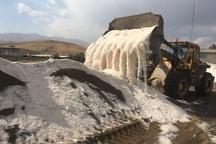 2400 تن شن و نمک در راهدارخانه های بوکان ذخیره شد