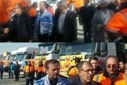 50 دستگاه ماشین آلات عمرانی آذربایجان غربی به مناطق زلزله زده کرمانشاه اعزام شدند