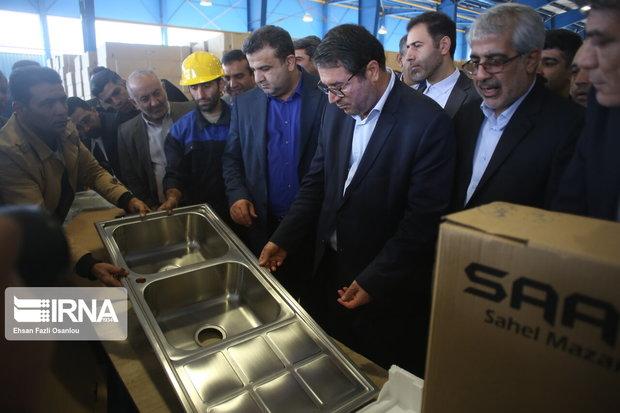 نخستین واحد تولید محصولات آشپزخانه با فناوری نوین کشور در مازندران افتتاح شد