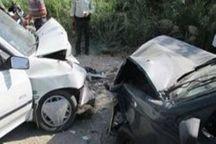 پنج مصدوم در تصادف زنجیره ای جاده کرج - چالوس