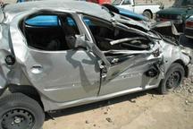 تصادف خودرو در البرز 4 مصدوم داشت