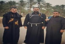 عکس/ تصویری از حضور سید یاسر و سید احمد خمینی و سید مصطفی موسوی بجنوردی  در راهپیمایی اربعین
