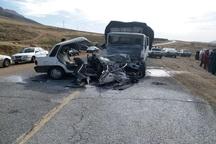 چهار مجروح در حادثه تصادف محور سفیددشت- شهرکرد