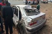 واژگونی خودرو در گناباد دو مصدوم داشت