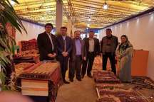 استقبال از نمایشگاه فرش دستباف گلستان در سازمان برنامه و بودجه کشور