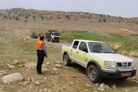 جاده ارتباطی 12 روستای بخش چلو شهرستان اندیکا بهسازی شد