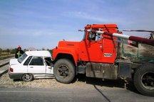 برخورد پراید با کامیون در مهران حادثه آفرید
