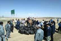 محیط زیست همدان از زباله پاکسازی شد