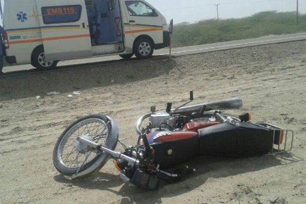 راکب موتور سیکلت در خمین جان باخت