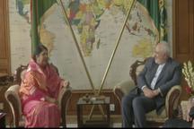دیدار و گفتگوی دکتر ظریف با رییس پارلمان بنگلادش