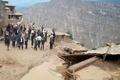 سیل در روستای آقچه مزار بوئین زهرا   15 خانوار گرفتار شدند