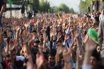 اولین سالگرد شهید محسن حججی درنجف آباد برگزارشد