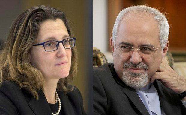 رایزنی ظریف با همتای کانادایی در خصوص انتخابات ایران