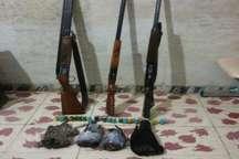 دستگیری سه شکارچی غیرمجاز در  بیله سوار