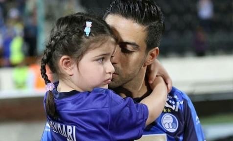 خداحافظی خسرو حیدری در کنار دخترش + عکس و فیلم