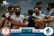 تیم والیبال شهرداری ارومیه حریف پیکان تهران نشد