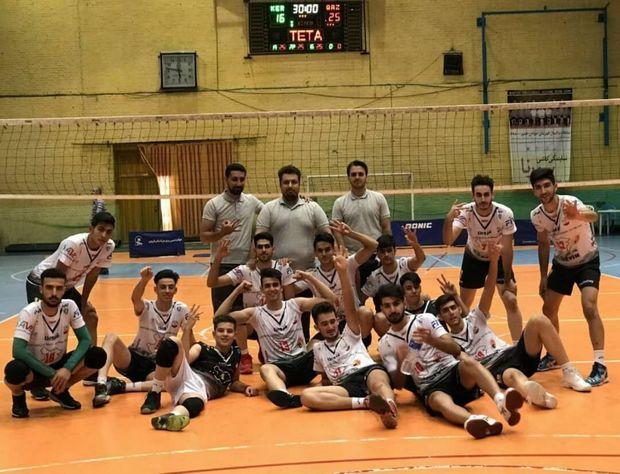 قهرمانی مسابقات دسته دوم والیبال جوانان کشور به قزوین رسید