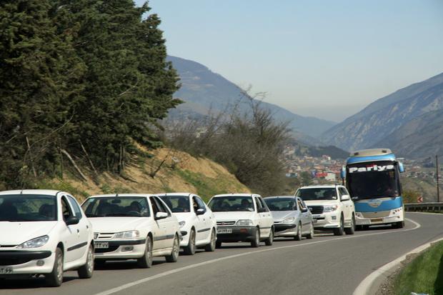 ترافیک درخروجی های مازندران به پایتخت پرحجم ونیمه سنگین است