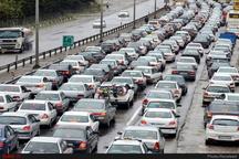 ترافیک سنگین در محور قم - تهران