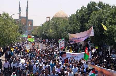 راهپیمایی روز جهانی قدس در 70 محل در استان یزد برگزار می شود